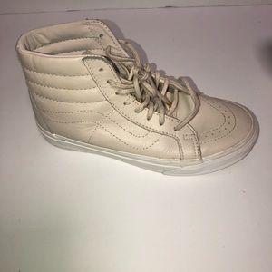 Vans ultraCush beige sk8 hi leather sneakers 7